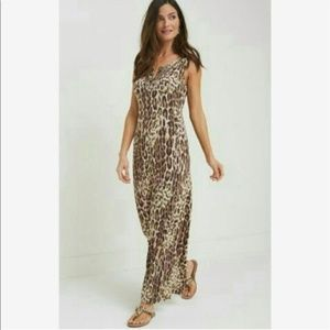 Tommy Bahama Relax Port Leopard Beaded Maxi Dress